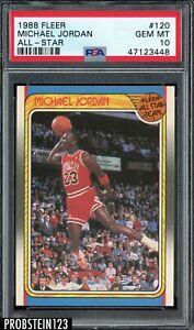 1988 Fleer All-Star Basketball #120 Michael Jordan Chicago Bulls HOF PSA 10