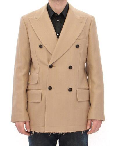 Gabbana Avec Nouveau us40 beige manteau veste double boutonnage à étiquette 50 Dolce tgwfwq