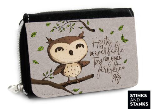 Portefeuille Femmes hiboux sac porte-monnaie Porte-Monnaie Chouette UHU