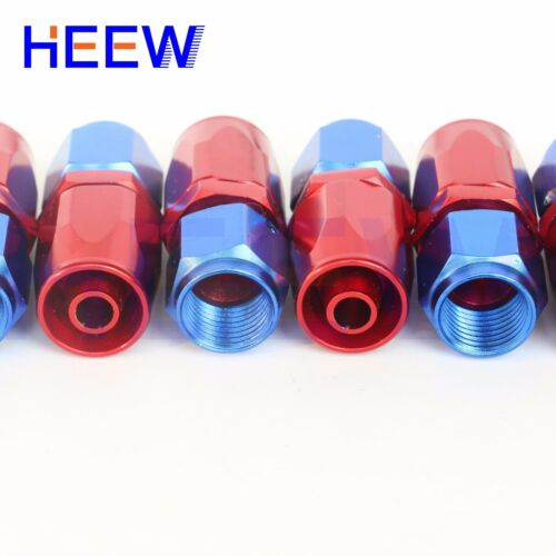 AN10 10-AN JIC-10 Fuel Swivel Fittings Hose End Oil Fuel Adaptor Red/&Blue 20pcs