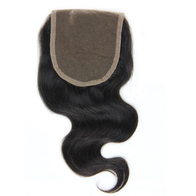 "4""x4"" Wave Lace Top Closure 100% Remy Brazilian Virgin Human Hair Natural Color"