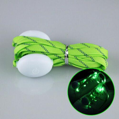 Fashionable LED Glowing Shoelaces RGB Night Light Up Flash Shoestring Club SS744