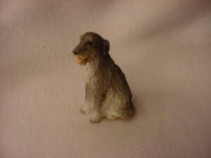 Irish Wolfhound Puppy Dog Figurine