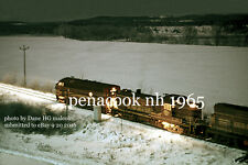 Boston & Maine RR 4265  freight BJ3  Penacook NH Northern RR 1965