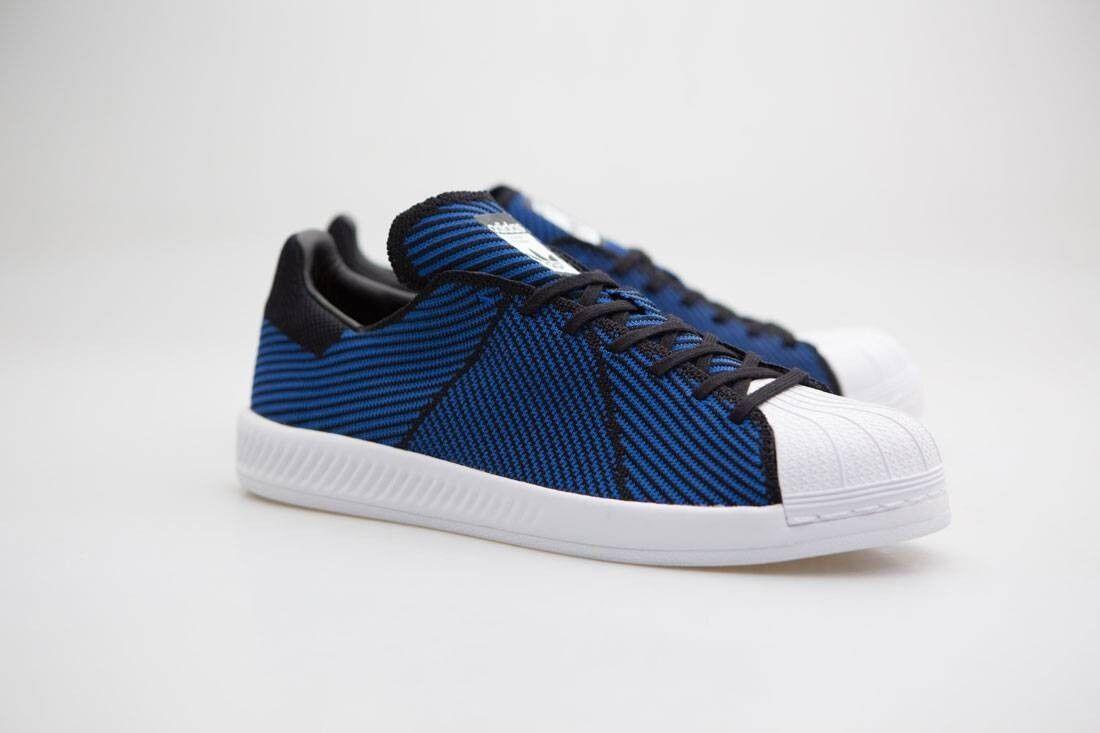Adidas Men Superstar Bounce Primeknit black blue footwear white S82242