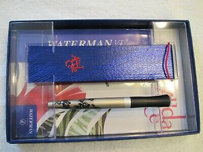 WATERMAN CARENE LEATHER BROWN BALLPOINT PEN GIFT BOXED Collectable no longermade
