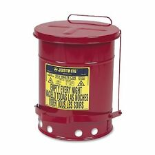 """Justrite Waste Container 6 Gal Capacity - Round - 15.87"""" Height - 11.87"""""""
