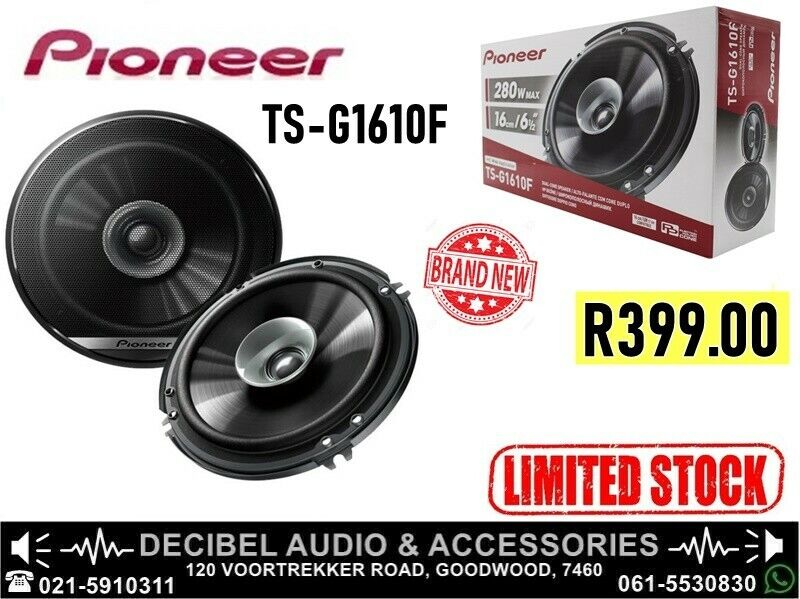 Pioneer TS-G1610F 280w Dualcone Speakers