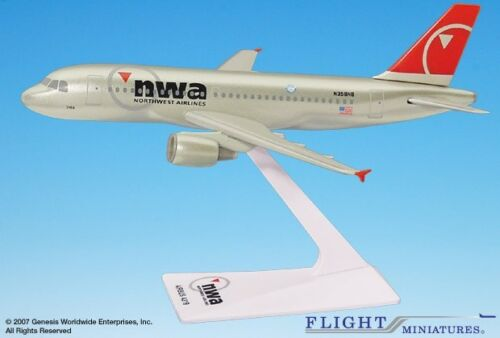 Flight Miniatures Northwest Airlines Airbus A319 Desk Top Model 1//200 Airplane