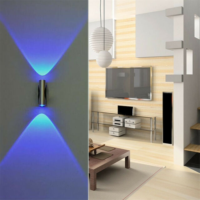 Double Headed Led Wall Lamp Home Sconce Bar Porch Wall Decor Ceiling Light Blue For Sale Online Ebay