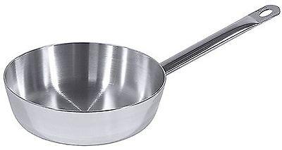 Gastronomie Qualität Edelstahl Saucenpfanne Ø 24cm 3,4L Schmorpfanne Induktion
