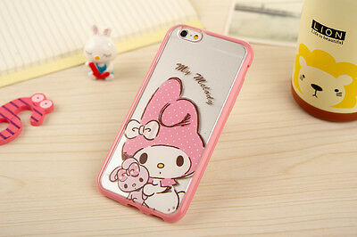 Cute Melody Hello Kitty Soft TPU Hard PC Clear Case Cover for iPhone 6 6plus 5S