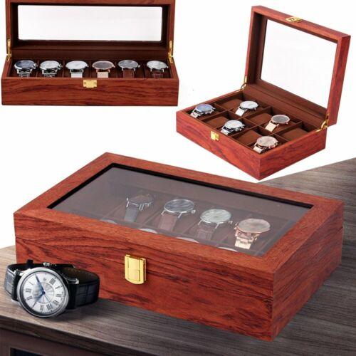 Hölzern UhrenboxLuxus-SammelboxSehen VitrineSchmuckkoffer FAST SHIPPING
