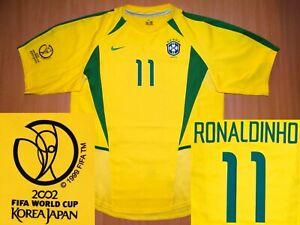 *MINT Brazil RONALDINHO 2002 2004 L LARGE shirt camisa jersey soccer Brasil Copa