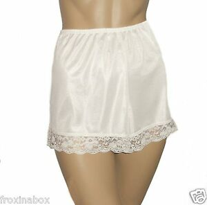 Cream-Deep-Lace-French-Knickers-Size-10-12-Textured-Satin-New