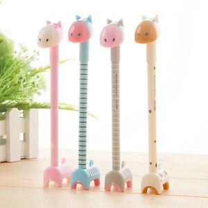 6Pcs-Fashion-Cute-Cartoon-Deer-Giraffe-Donkey-Ball-Pens-Office-School-Stationery