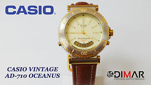 VINTAGE CASIO AD 710 OCEANUS QW.388 JAPAN DUAL TIME AÑO 1989  kUdeo