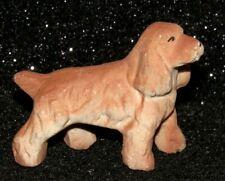 Tiny Ceramic Dollhouse Miniature Porcelain Lonely Cocker Spaniel Dog FIGURINE