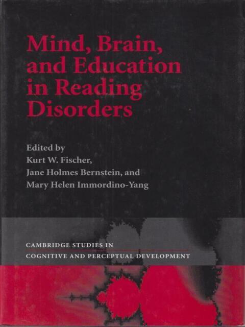 Mind, Brain, And Education IN Reading Erkrankungen Aa.vv