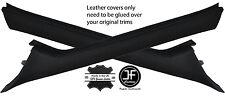 BLACK STITCH 2X A PILLARS LEATHER COVERS FITS MERCEDES SPRINTER A901 905 00-06