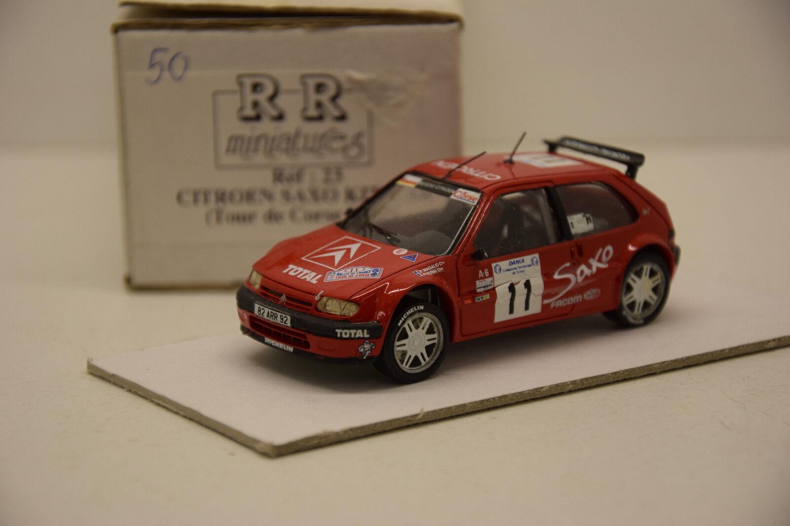 CITROEN SAXO KIT CAR CORSE 1997 RR MINIATURES 1 1 1 43 NEUVE EN BOITE MONTAGE USINE 8403d8