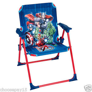 Fabulous Details About New Marvel Avengers Childrens Kids Outdoor Indoor Garden Foldable Patio Chair Pabps2019 Chair Design Images Pabps2019Com