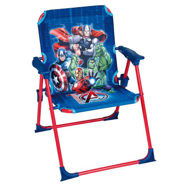 New Marvel Avengers Childrens Kids Outdoor Indoor Garden Foldable Patio Chair