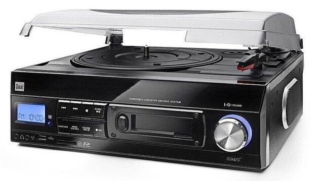 Dual DTTC 100 USB Plattenspieler Schalplatten SD Radio Kassette Direct Encoding