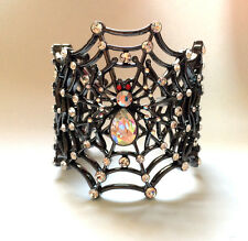 Butler and Wilson Crystal Spiderweb Cuff Bracelet 45th Anniversary NEW