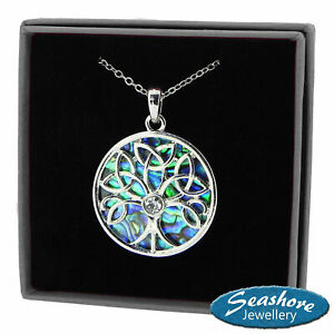 Celtic-Tree-of-Life-Necklace-Abalone-Shell-Pendant-Silver-Fashion-Jewellery-18-034
