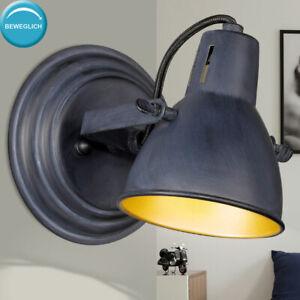 LED Wand Strahler Lampe Alt Messing Wohn Zimmer Leuchte Lese Spot verstellbar