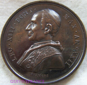 MED6903-MEDAILLE-LEON-XIII-1900-PONT-MAX-AN-XXII-Vatican