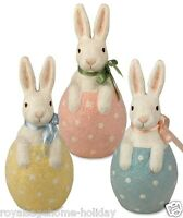 Tj2388 Bethany Lowe Bunny In Egg Easter Spring Decoration Figure Rabbit Bow