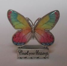 v Count Your Blessings BUTTERFLY FIGURINE ganz gratitude thankful heart mini