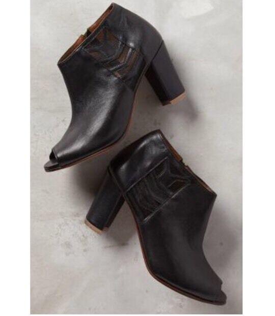qualità ufficiale NEW  348 348 348 Anthropologie Teresina Shooties Open Toe Heel stivali Dimensione 40  nuovo di marca
