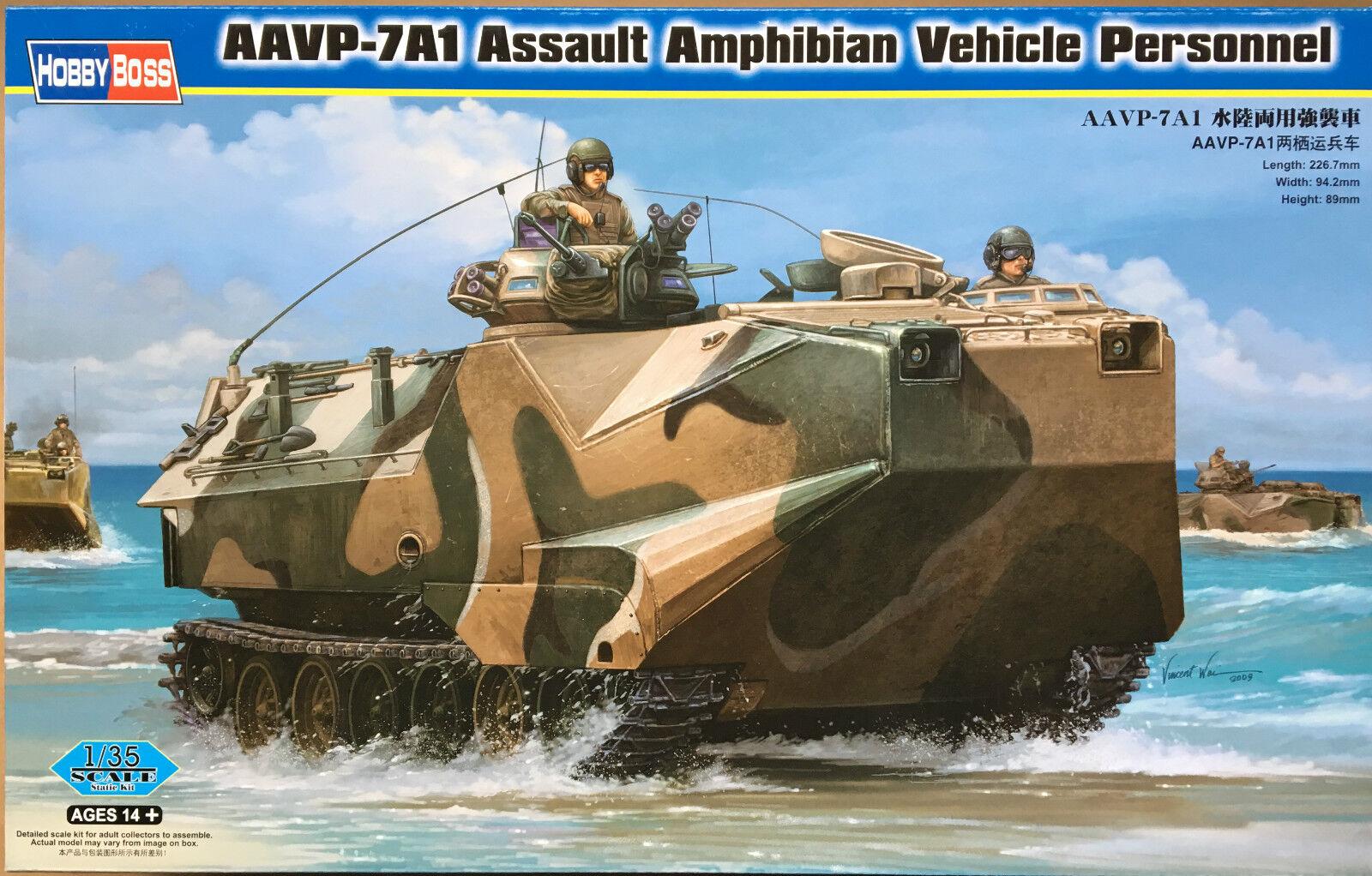 Hobbyboss 82410 aavp-7a1 assalto anfibio veicolo personale 1   35 - kit.