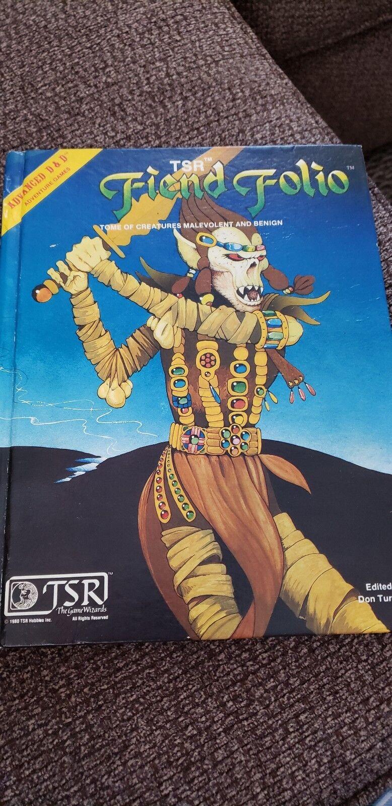 1981 1st Edition Printing Fiend Folio TSR Dungeons Dragons D&D Book EUC