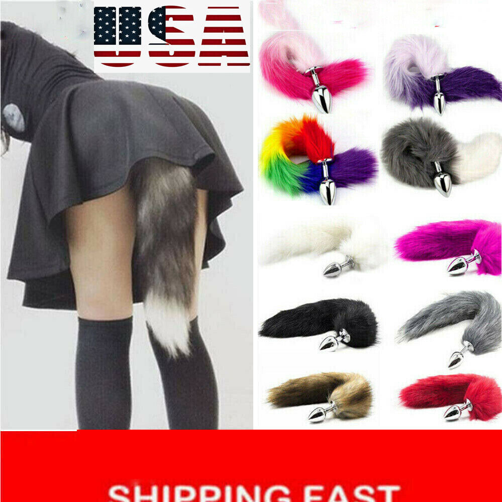Funny Anal Tube details about funny red fox faux tail plug butt stopper anal slicone adult  toys p
