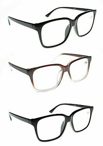 67ec56358b Details about LARGE FRAME Unisex Stylish Reading Glasses in 3 Colours  +1.0+1.5+2.0+2.5 TN44
