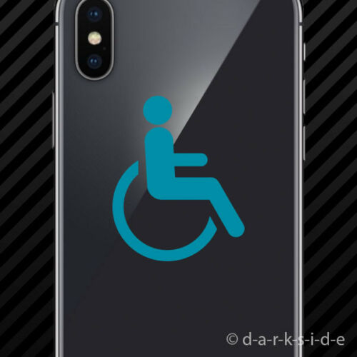 2x Handicap Cell Phone Sticker Mobile wheelchair accessible