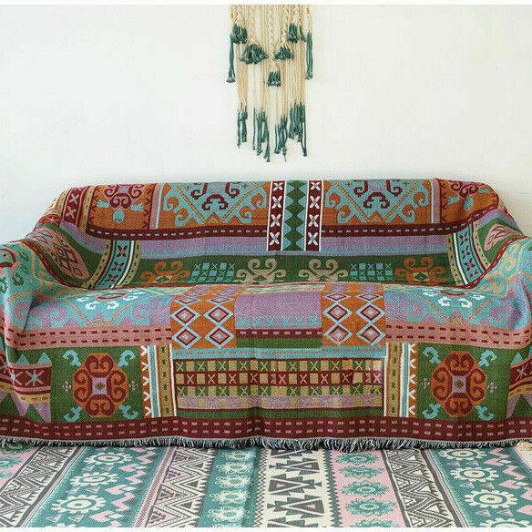Wandbehang Tapisserie geometrische aztekische Decke Navajo Tribal Throw Decor