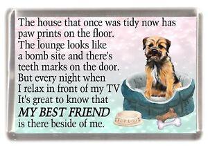 Border-Terrier-Dog-Fridge-Magnet-034-MY-BEST-FRIEND-POEM-034-Novelty-Gift-by-Starprint