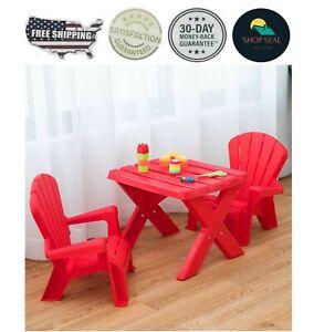 Mesa Mesita Pequeña Para Niños Con Sillas Para Comer Dibujar 3 Pzas Plastico T Ebay