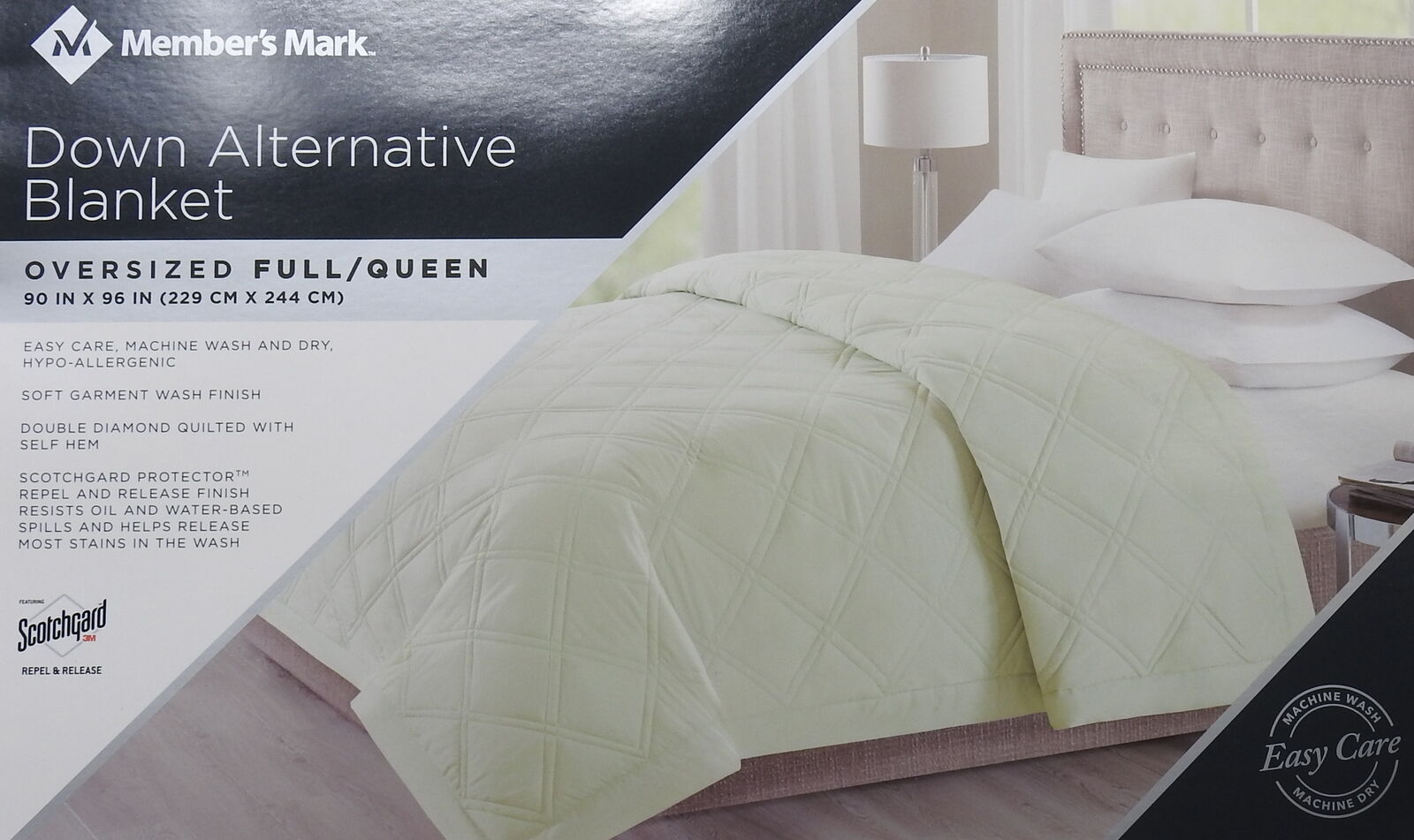 Member's Mark Oversized Reversible Down Alternative Blanket, Full Queen