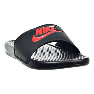 timeless design 5a4b7 64499 Image is loading Nike-Benassi-JDI-Men-039-s-Sandals-Black-