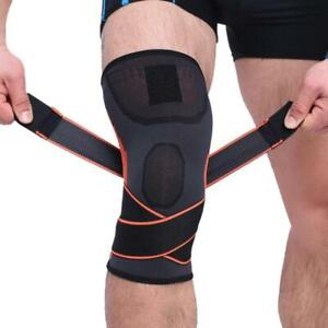 Compression Knee Support Sleeve with Adjustable Straps Sports Injury Brace NHS