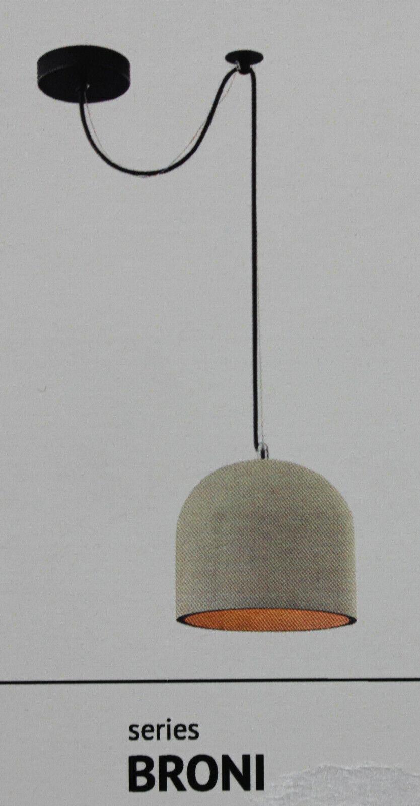Maytoni Pendelleuchte Broni Beton Deckenleuchte Lampe Grau Ø 20cm F4-T451-PL