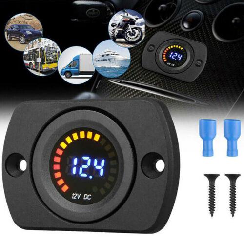 DC 12V LED Digital Display Gauge Panel Meter Voltage Voltmeter Car Motorcycle~RU