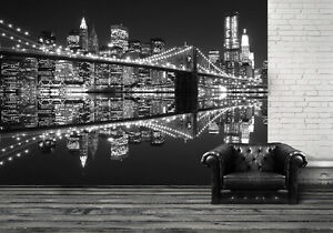 Giant size wallpaper mural for bedroom & living room walls New York ...