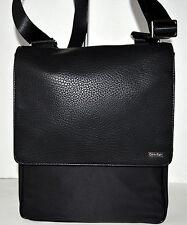 Calvin Klein Cotton Nyloncity Bag Handbag Purse Sac Black NWT